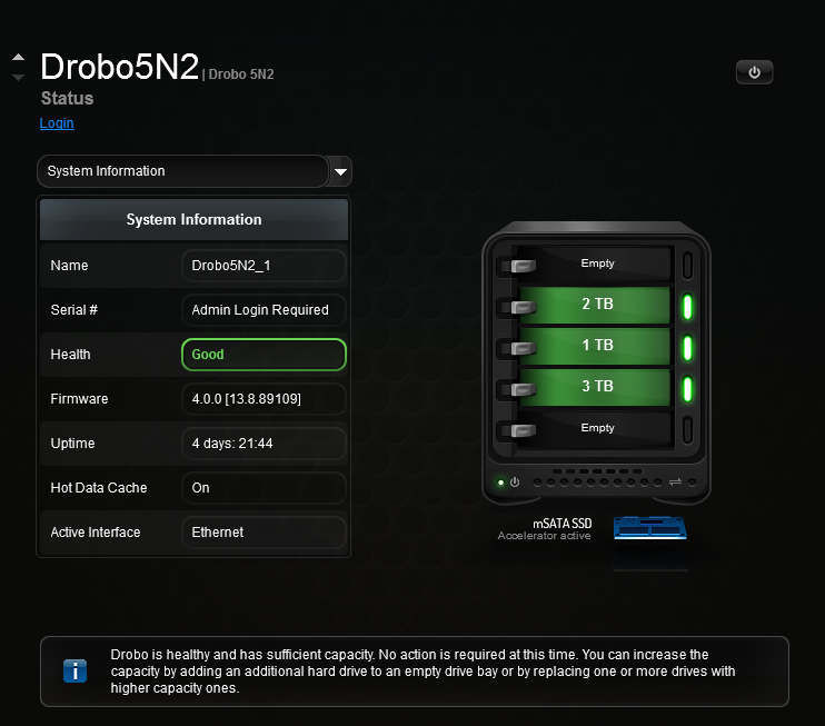 drobo model by serial number